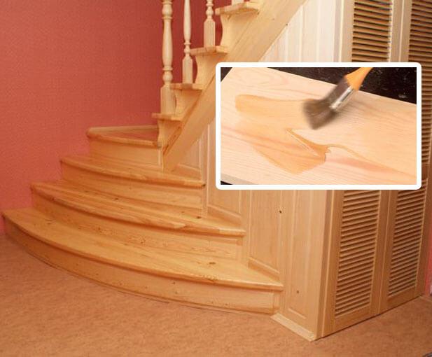 Покрыть лаком деревянную лестницу своими руками 65